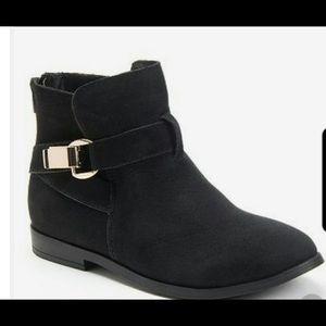 Sugar Sude Black Ankle Boots Size 8M